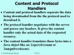 content and protocol handlers