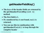 getheaderfieldkey