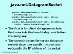 java net datagramsocket152