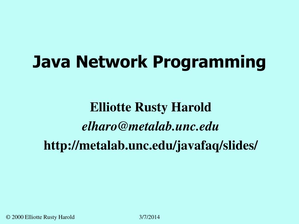 java network programming l.