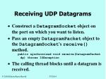 receiving udp datagrams