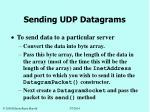 sending udp datagrams