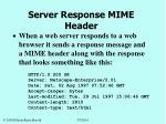 server response mime header