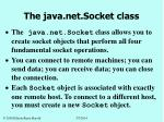 the java net socket class