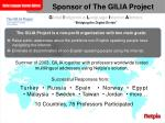sponsor of the gilia project