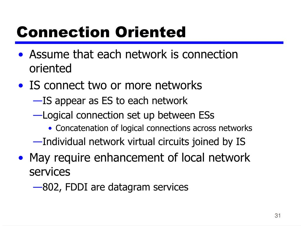 Connection Oriented