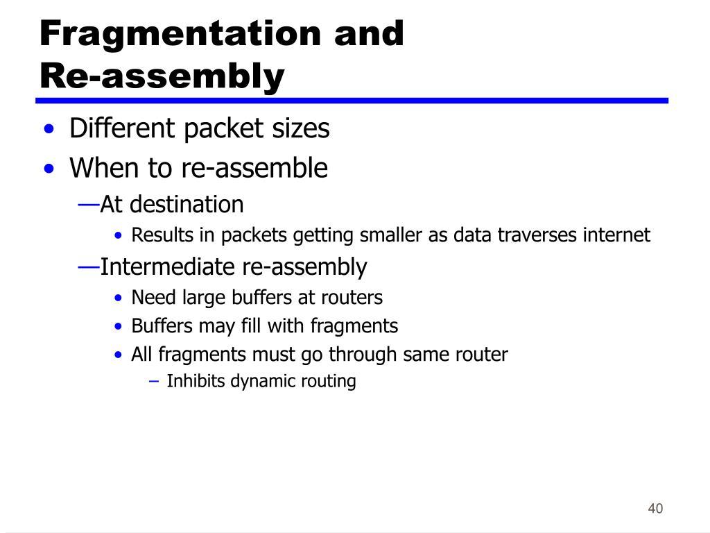 Fragmentation and