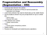 fragmentation and reassembly segmentation osi