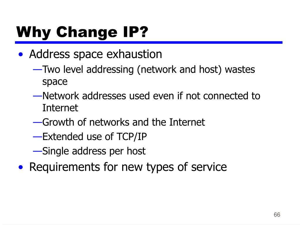 Why Change IP?