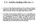 3 1 articles dealing with war 1