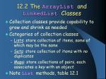 12 2 the arraylist and linkedlist classes