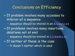 conclusions on efficiency
