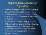 number base conversion algorithm