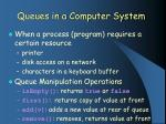queues in a computer system