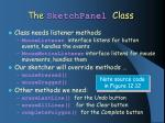 the sketchpanel class