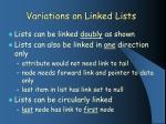 variations on linked lists
