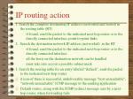 ip routing action