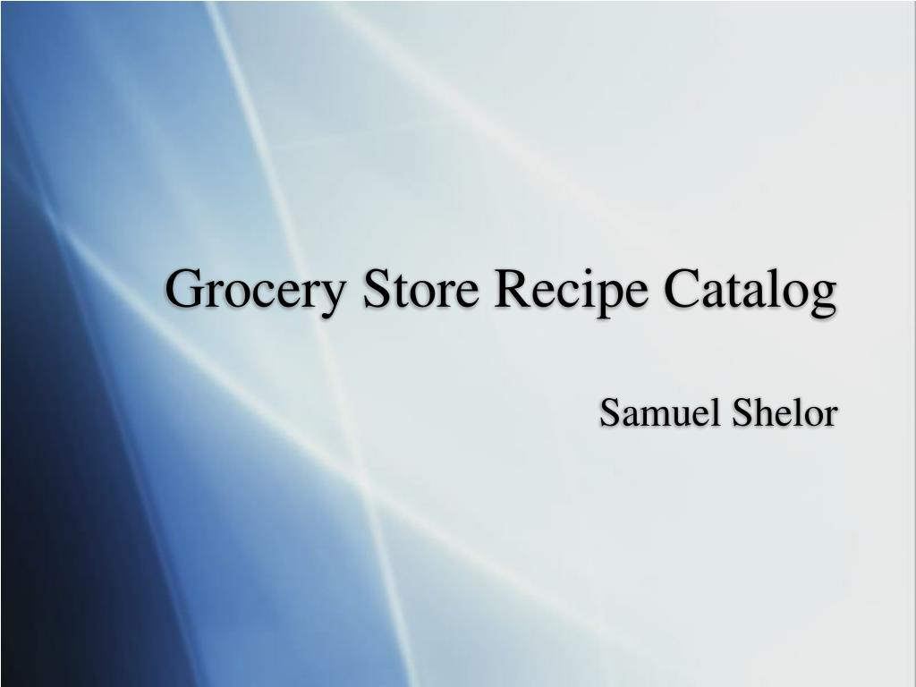 grocery store recipe catalog l.