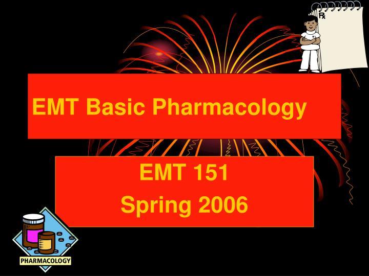 emt basic pharmacology n.