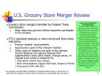 u s grocery store merger review