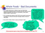 whole foods bad documents