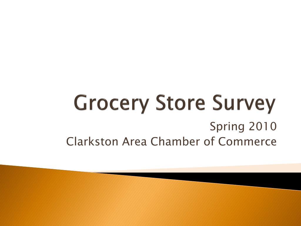 grocery store survey l.