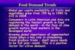food demand trends