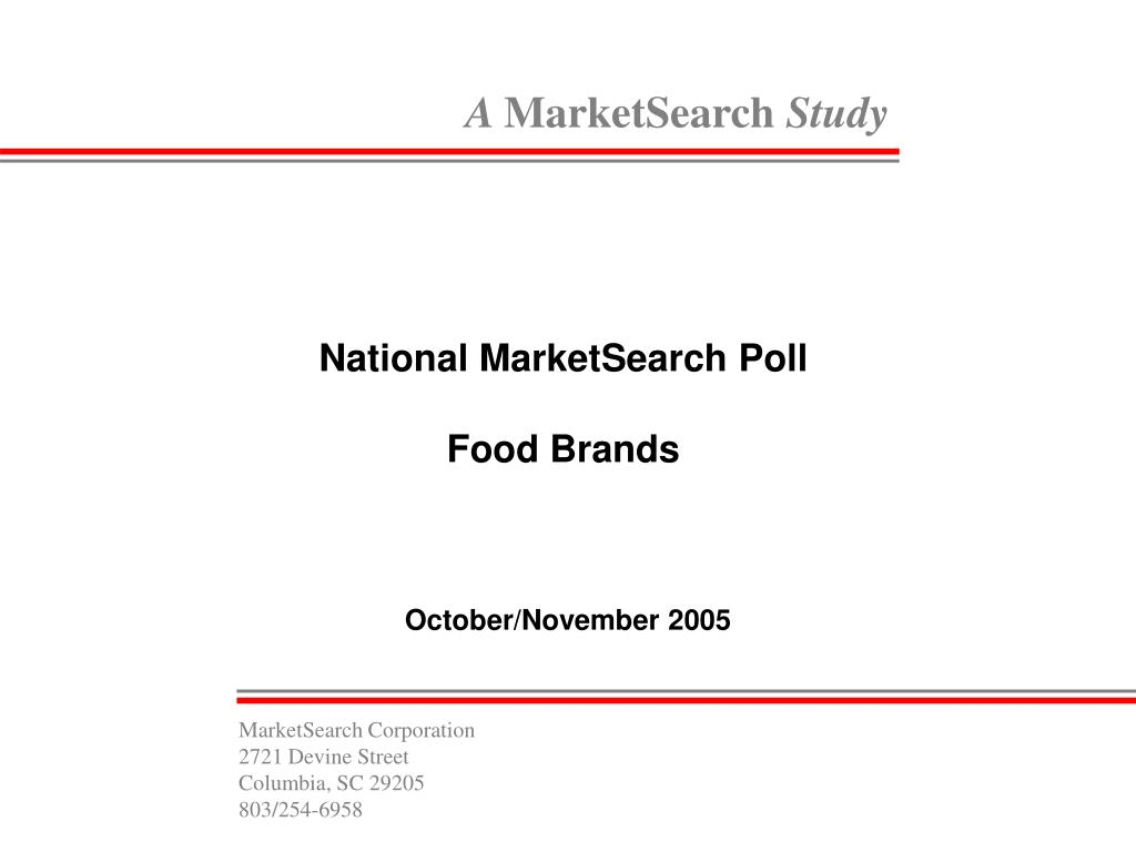 national marketsearch poll food brands l.
