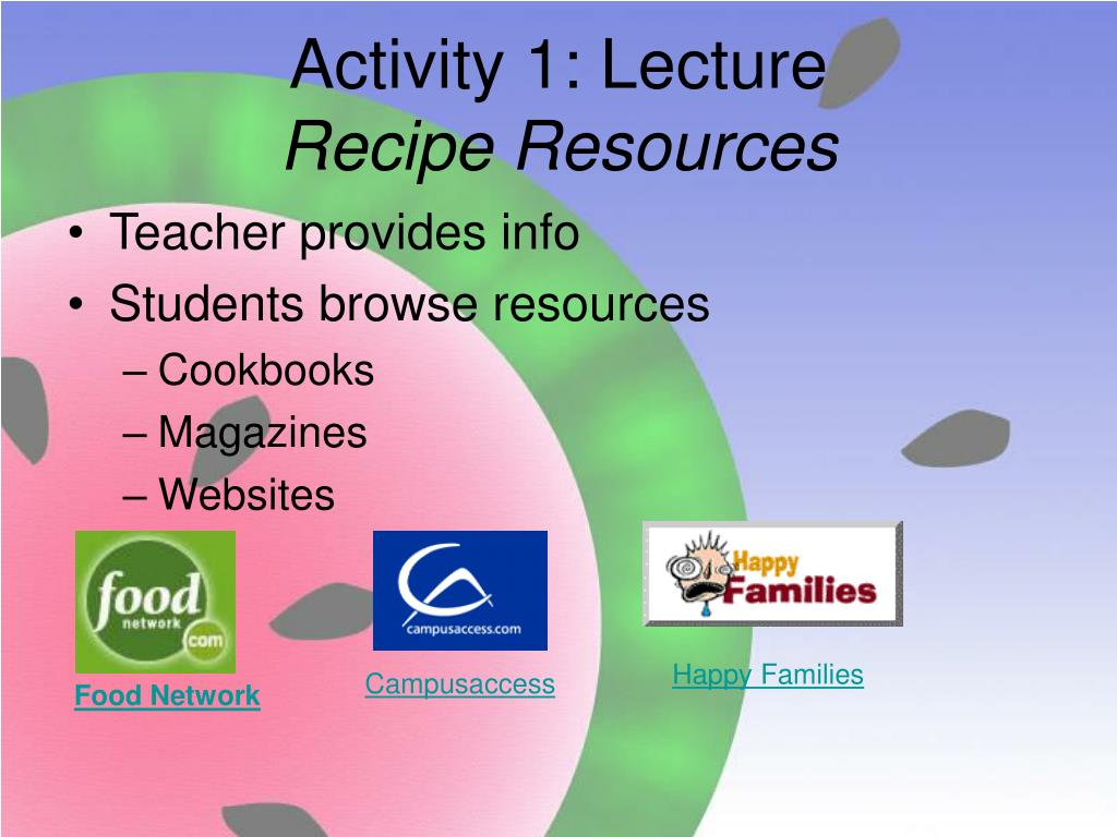 Activity 1: Lecture
