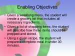 enabling objectives19