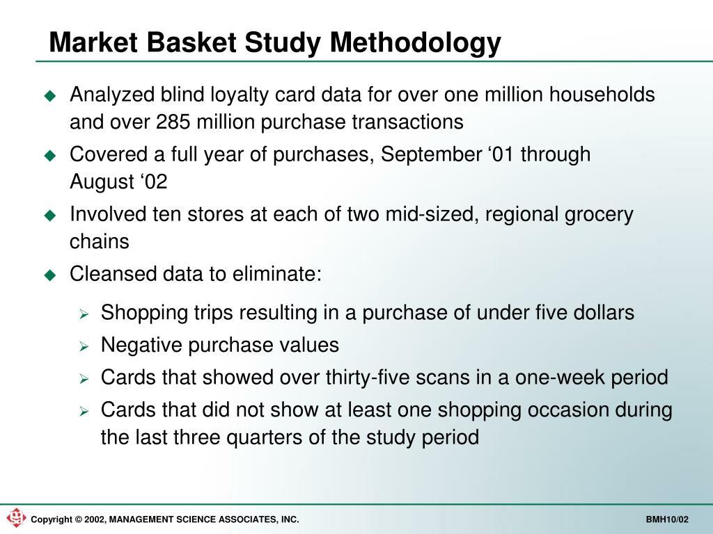 Market Basket Study Methodology