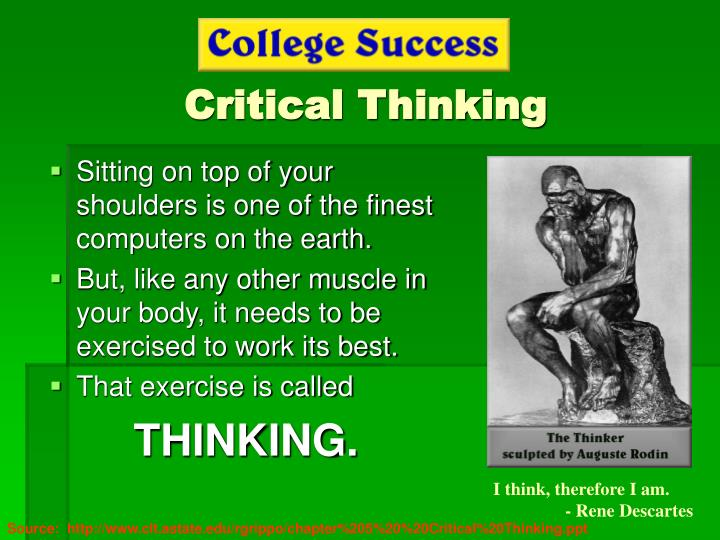 critical thinking powerpoint Information problem-based learning experiential learning cooperative learning ongoing assessment constraints critical thinking powerpoint presentation.