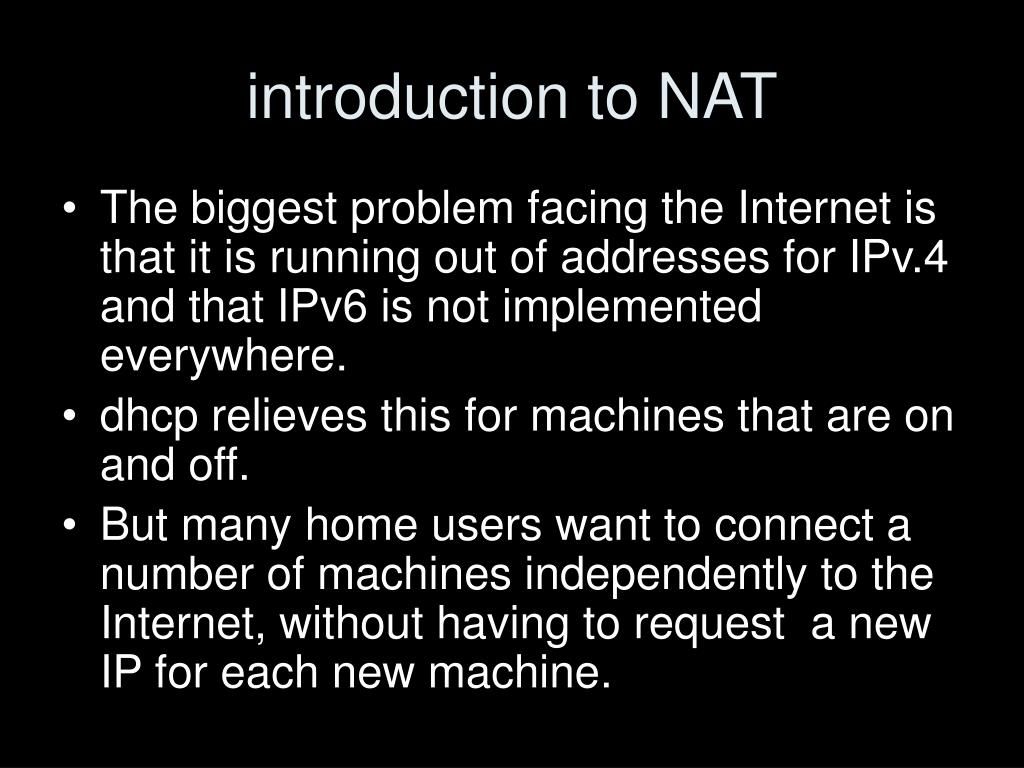 introduction to NAT