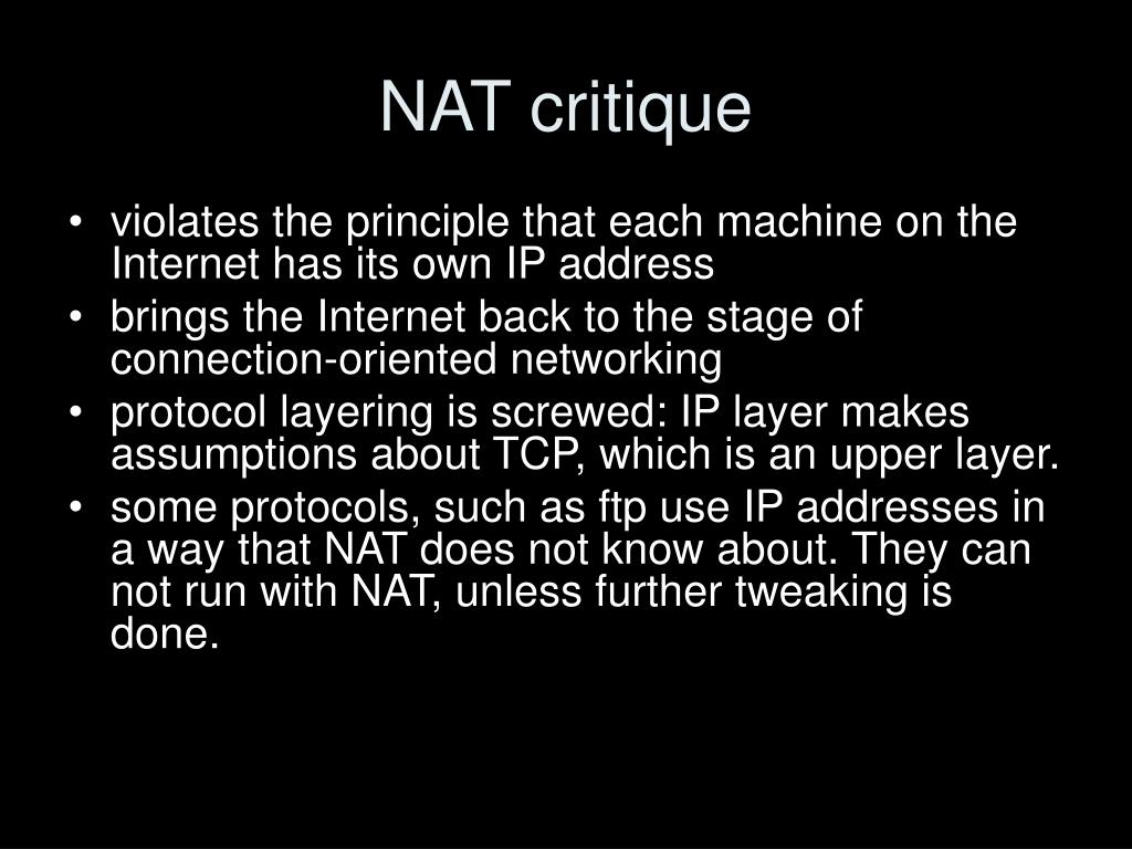 NAT critique