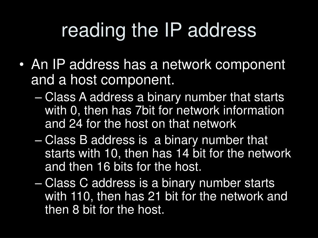 reading the IP address
