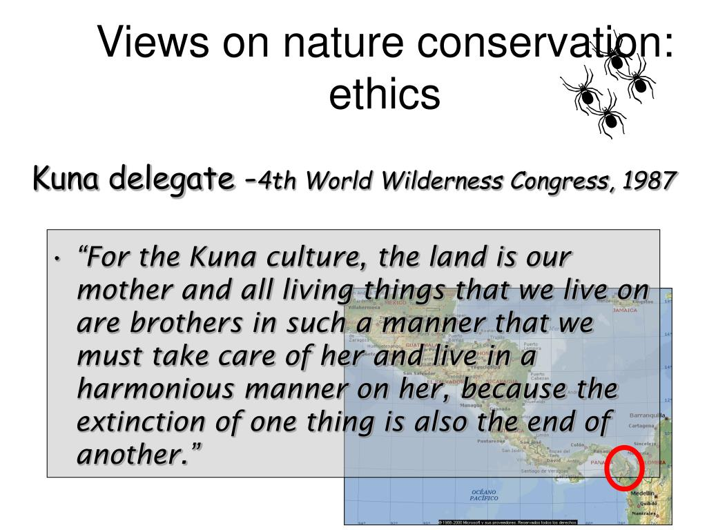 Views on nature conservation: ethics