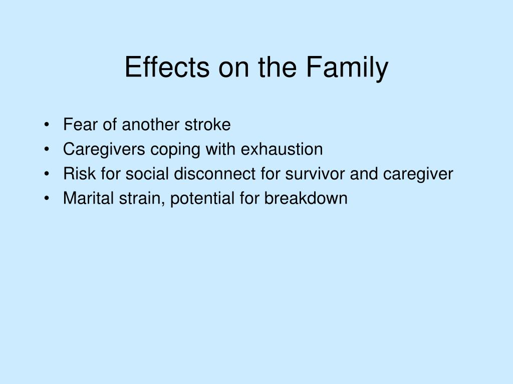 Fear of another stroke