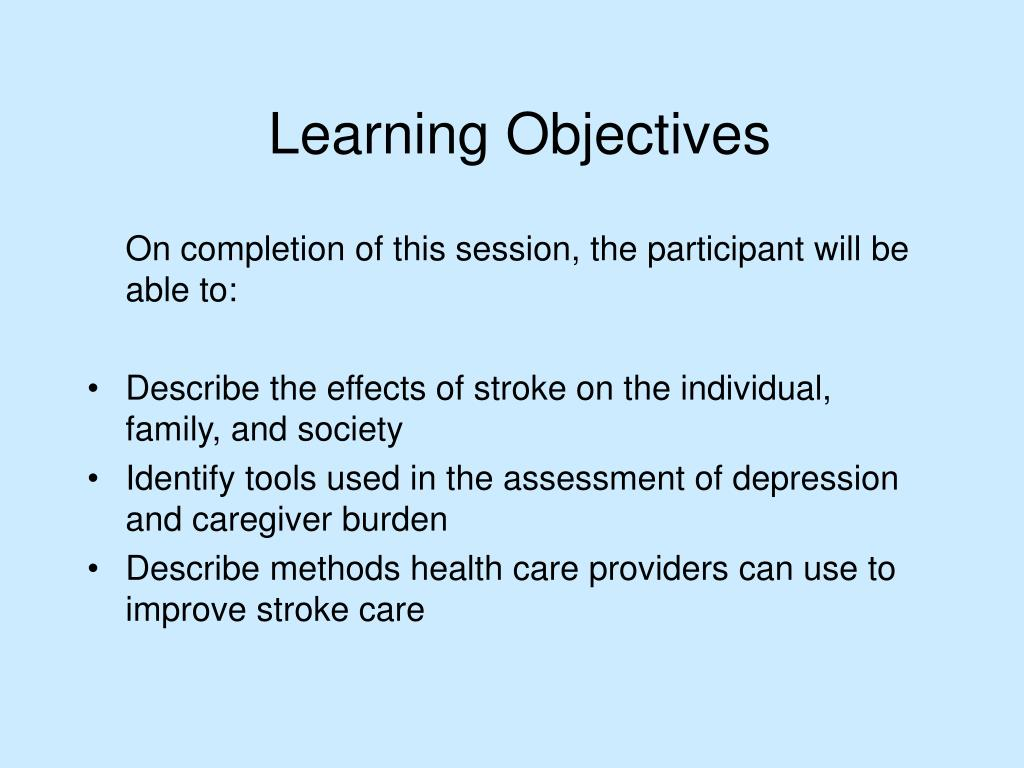 On completion of this session, the participant will be able to: