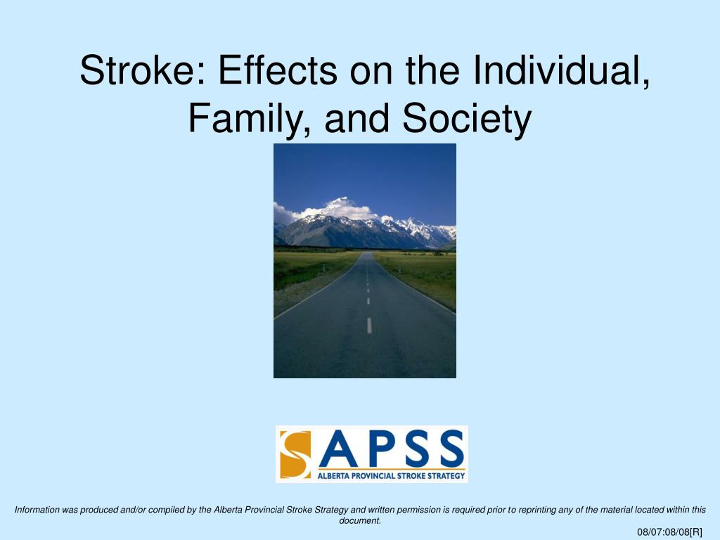 Stroke: Effects on the Individual, Family, and Society