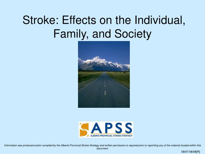 Stroke effects on the individual family and society
