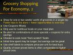grocery shopping for economy 2