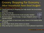 grocery shopping for economy most households have food budgets