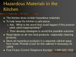 hazardous materials in the kitchen