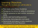 learning objectives through this module you will be able to