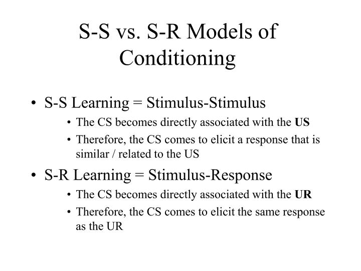 stimulus response conditioning