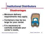 institutional distributors19