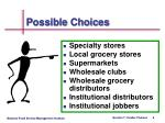 possible choices