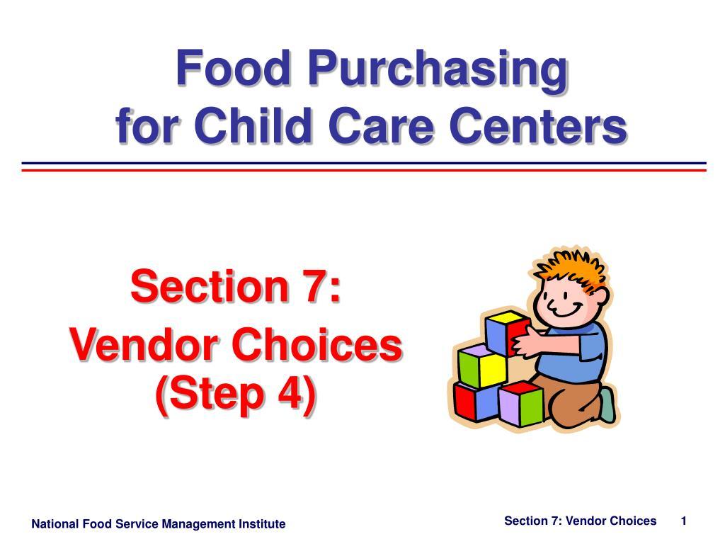 section 7 vendor choices step 4 l.