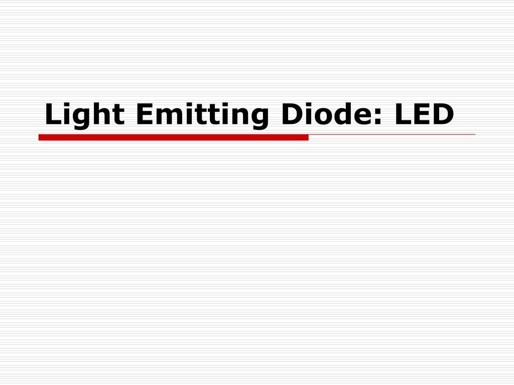 light emitting diode led l.