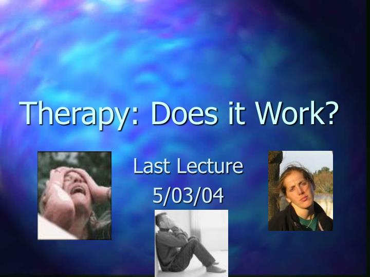 therapy does it work n.
